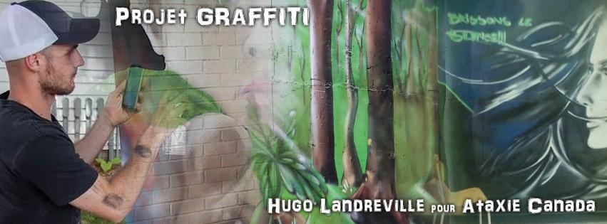 Projet Graffiti: Hugo Landreville pour Ataxie Canada